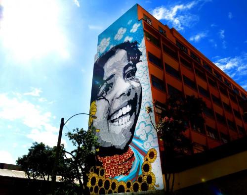 Izolag e Ananda Nahu - Mural no Teatro Liceu das artes - Rio de Janeiro 2014 (Custom)
