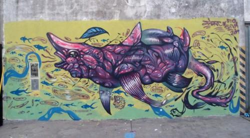 Moron, mural con Jiant (Custom)